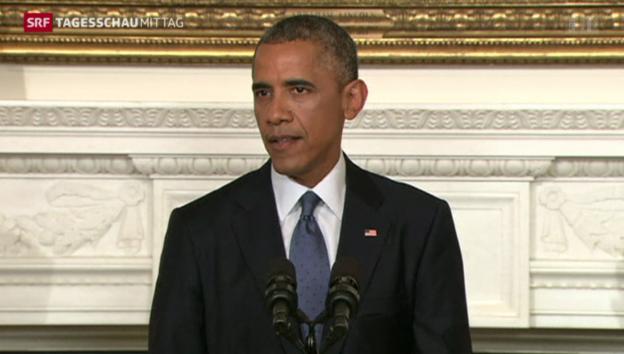 Video «Obama plant US-Luftangriffe im Irak» abspielen