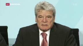 Video «Keine zweite Amtszeit für Joachim Gauck» abspielen