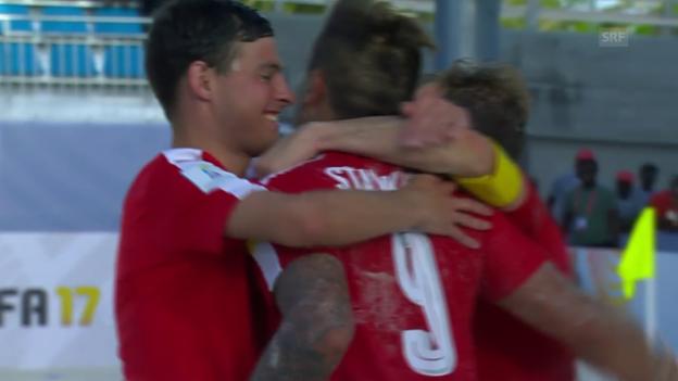 Video «Schweiz gewinnt Beachsoccer-Krimi gegen Senegal» abspielen