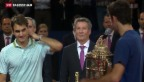Video «Federer verliert gegen Del Potro» abspielen
