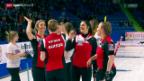 Video «Vor dem WM-Final der Curlerinnen» abspielen