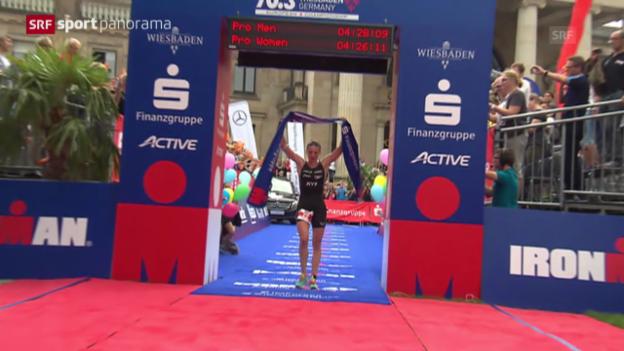 Video «Triathlon: Ironman in Wiesbaden» abspielen