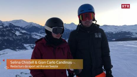 Laschar ir video «Selina e Gian Carlo èn ready per Åre 2019»