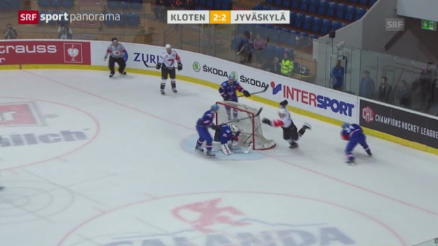 Video «Eishockey: Champions League, Kloten - Jyväskylä» abspielen