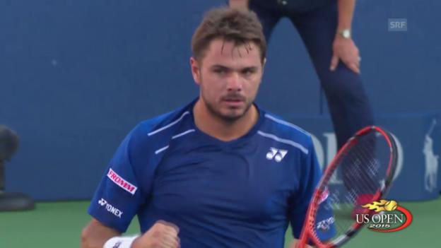 Video «Tennis: US Open, Zusammenfassung Wawrinka - Bemelmans» abspielen