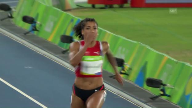 Video «Kambundji zieht in den Halbfinal über 100 m ein» abspielen