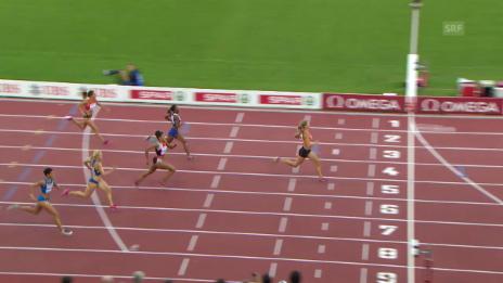 Video «Leichtathletik: Kambundji zieht in 200-m-Final ein» abspielen
