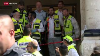 Video «Anschlag in Jerusalem verschärft Religionskonflikt weiter» abspielen