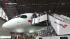 Video ««Flüsterjet» am Flughafen Zürich getauft» abspielen