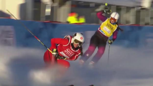 Video «Talina Gantenbein triumphiert im Skicross» abspielen