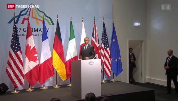 Video «G7 drohen Russland mit schärferen Sanktionen» abspielen