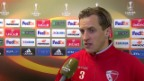 Video «Fussball: Europa League, 6. Spieltag, Sion - Liverpool, Interview mit Reto Ziegler» abspielen