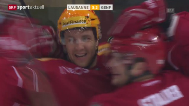 Video «Eishockey: NLA, Lausanne - Genf-Servette («sportaktuell»)» abspielen