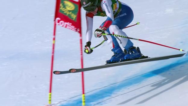 Video «Ski: Super-G Cortina, Fahrt von Suter» abspielen