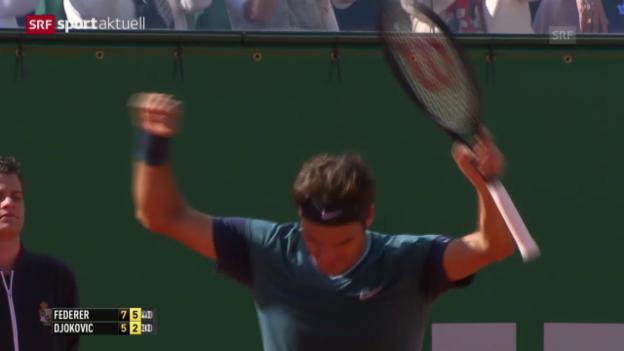 Video «Tennis: Federer besiegt Djokovic («sportaktuell»)» abspielen