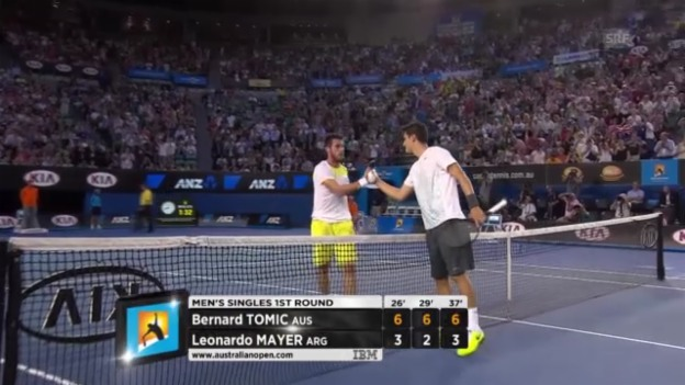 Video «Highlights Tomic - Mayer» abspielen