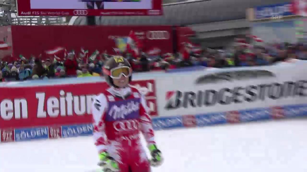 Ski alpin: Riesenslalom in Sölden, 2. Lauf Anna Fenninger