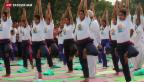 Video «Erster internationaler Yoga-Tag» abspielen