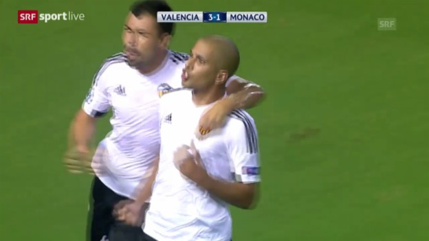 Video «Fussball: Valencia-Monaco» abspielen