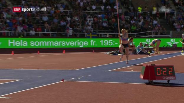 Video «Leichtathletik: Diamond League Meeting Stockholm, die Schweizer» abspielen