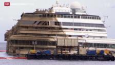 Video «Costa Concordia aufgerichtet» abspielen