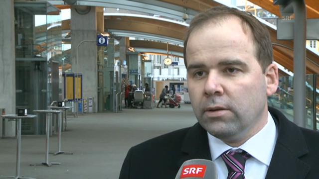 SBB Sprecher Christian Ginsig zum Nadelöhr Schönenwerd.