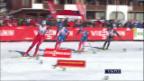 Video «Tour de Ski: Schlussphase der 4. Etappe» abspielen