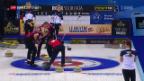 Video «Schweizer Curler mit 3. Sieg im 3. Spiel» abspielen