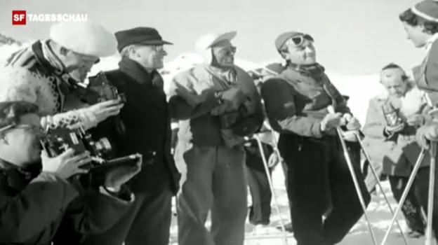 Video «St. Moritz 1948: Eindrücke aus der Film-Wochenschau» abspielen