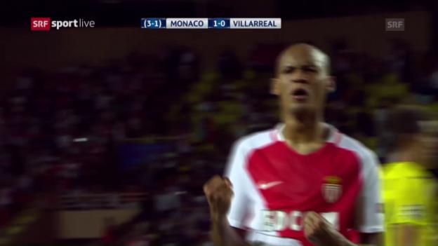 Video «Mit Last-Minute-Treffer: Monaco schlägt Villarreal» abspielen