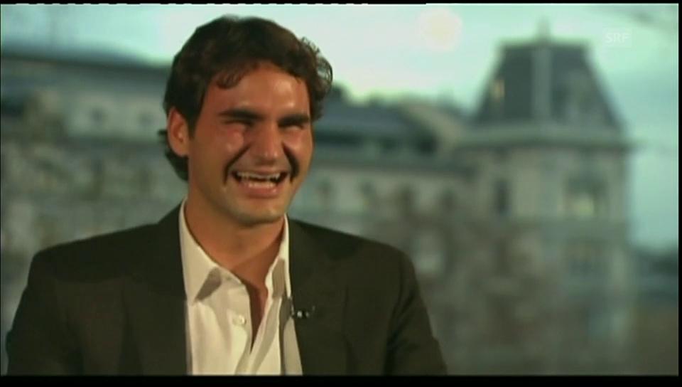 Roger Federers legendärer Lachanfall