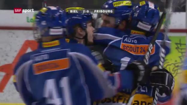 Video «Eishockey: Biel-Fribourg» abspielen