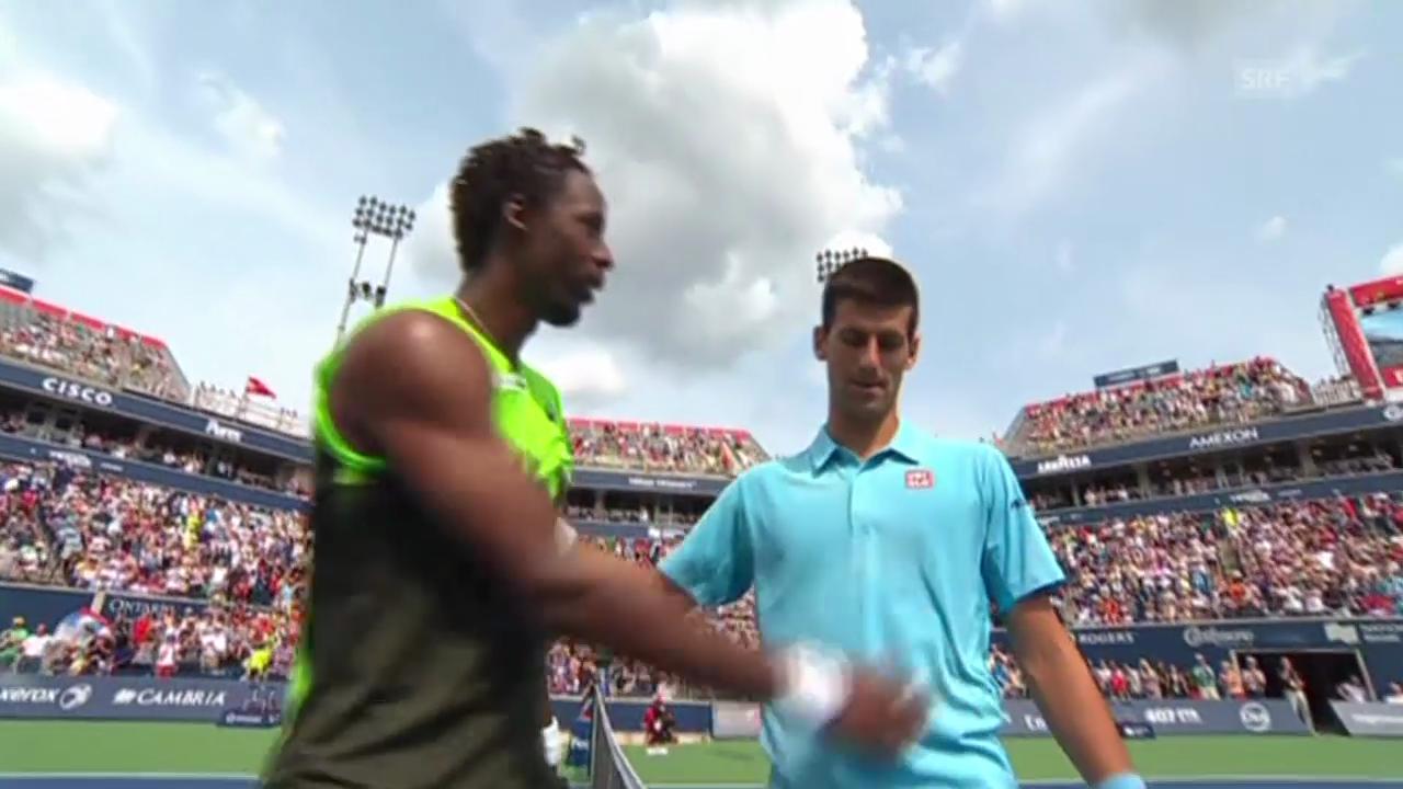 Tennis: ATP Toronto, Matchball Djokovic - Monfils