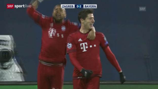 Video «Fussball: CL, Zagreb - Bayern» abspielen
