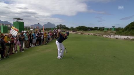 Video «Am 1. Tag: Rose gelingt ein Hole-in-one» abspielen