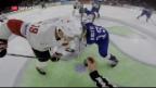 Video «Helmkamera sorgt an der Hockey-WM für spektakuläre Bilder» abspielen
