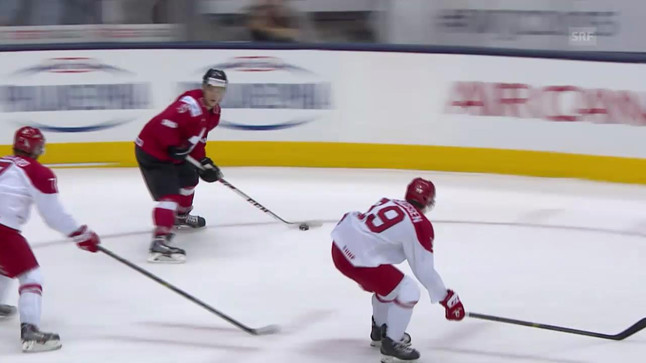 Eishockey: U20-WM, Spielbericht Dänemark - Schweiz