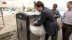 Video «Genf testet neue Hightech-Abfallkübel» abspielen