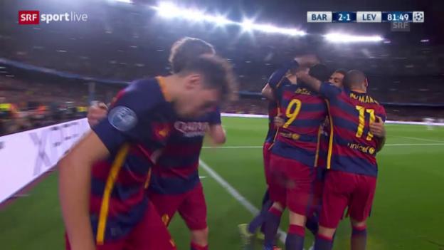 Video «Barcelona-Leverkusen: 2:1 Suarez» abspielen