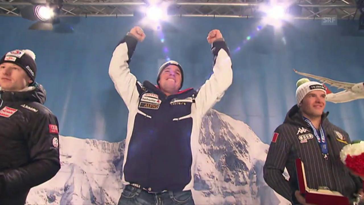 Rückblick auf Beat Feuz' Siegesfahrt am Lauberhorn 2012