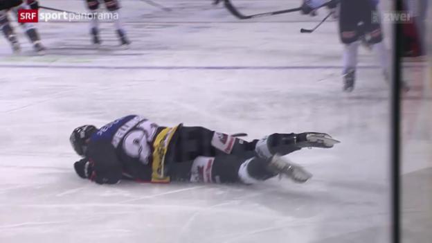 Video «Eishockey: Strichkampf in der NLA» abspielen