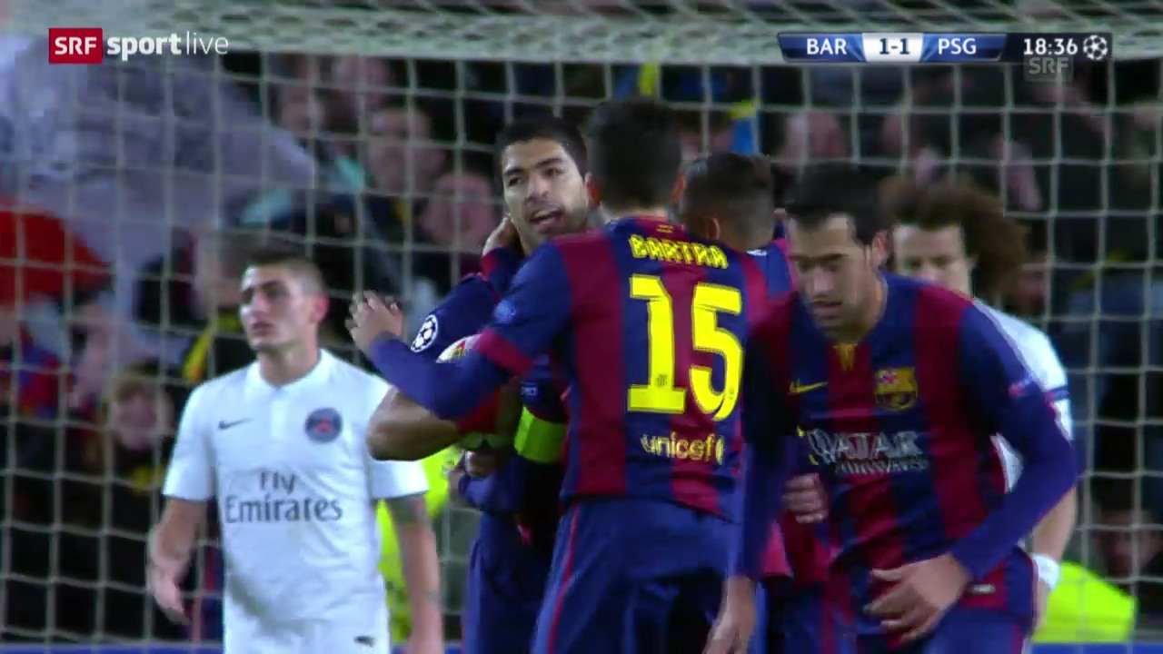 Fussball: Champions League, Gruppe F, Live-Highlights Barcelona - Paris St-Germain
