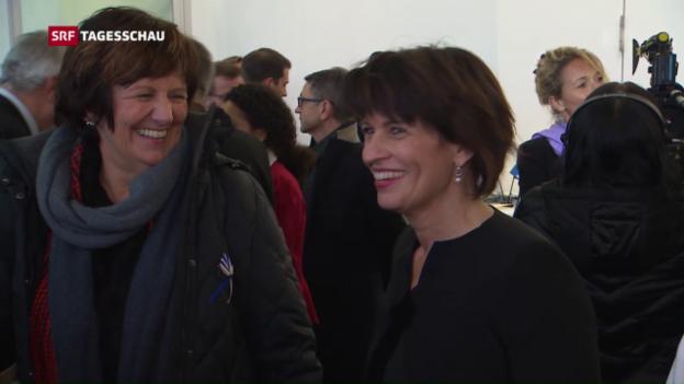 Video «Doris Leuthard als Bundespräsidentin gefeiert» abspielen