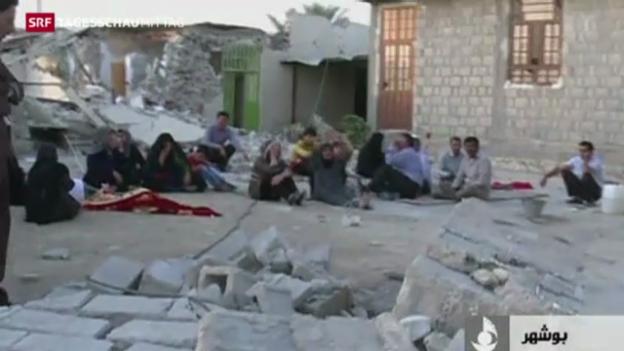 Video «Grosse Zerstörung durch Beben in Iran» abspielen
