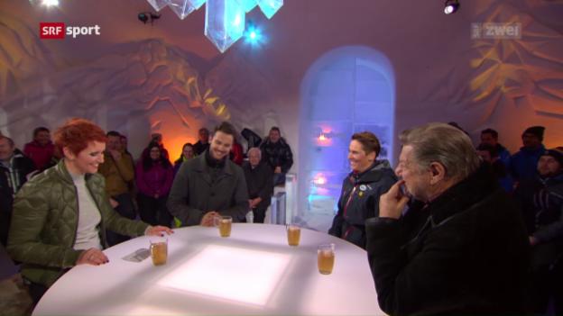 Video «Michaela Dorfmeister, Jürg Marquard und Bastian Baker» abspielen