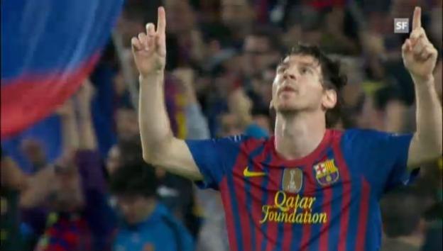 Video «Die 13 CL-Tore von Messi im Video» abspielen