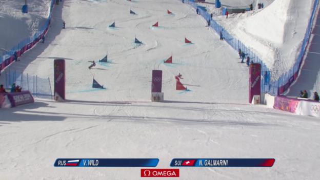 Video «Snowboard: Parallel-RS, Final, 1. Lauf von Nevin Galmarini (sotschi direkt, 19.2.14)» abspielen