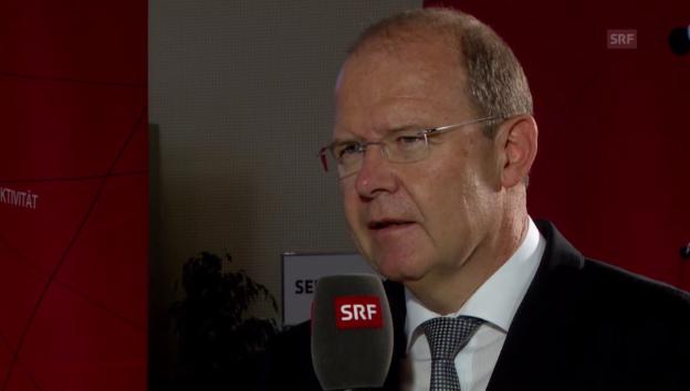 Video «Valentin Vogt: «Die Wirtschaftslage ist als Thema nicht populär.»» abspielen