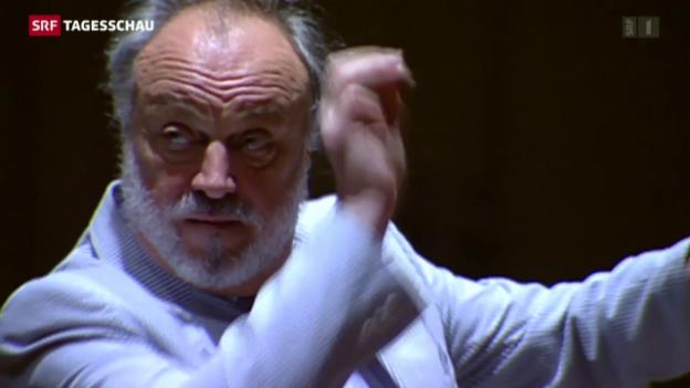 Video «Dirigent Kurt Masur ist gestorben» abspielen