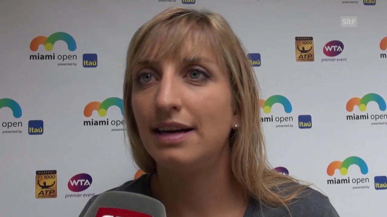 Timea Bacsinszky über ihren Sieg gegen Ana Ivanovic
